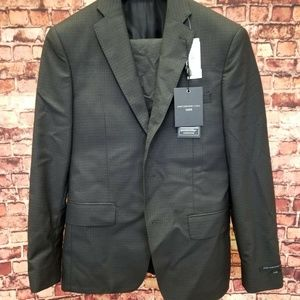JOHN VARVATOS USA LUXE 2 PC MENS SUIT ZAPPA CHARCO